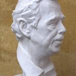 Petr Mucha - portrétní plastika - Václav Havel - 2012 - 25 x 25 x 50cm - sádra - pravý přední poloprofil